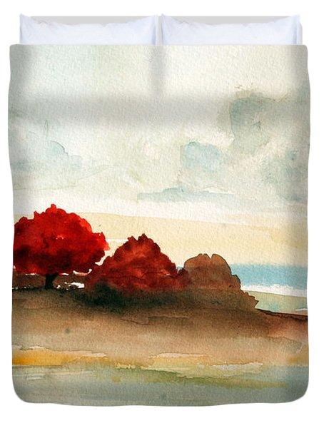 Watercolor Bay Duvet Cover