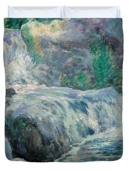 Waterfall Duvet Cover by John Henry Twachman