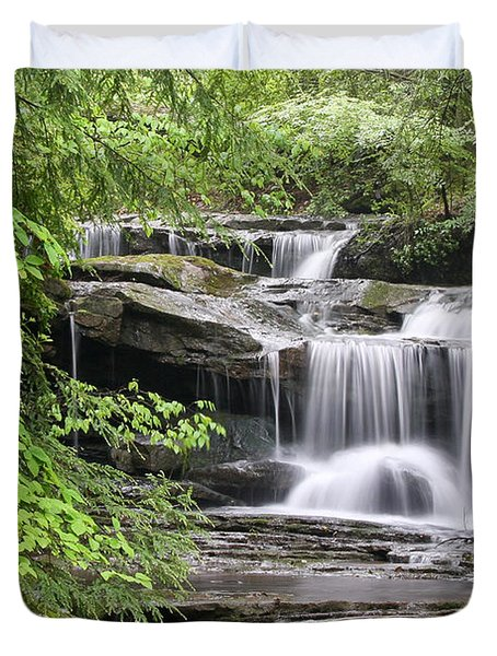 Waterfall Near Mabbitt Spring Duvet Cover