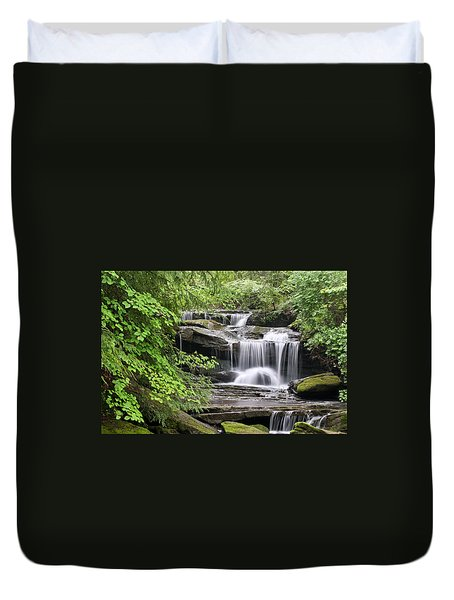 Waterfall Near Mabbitt Spring Duvet Cover