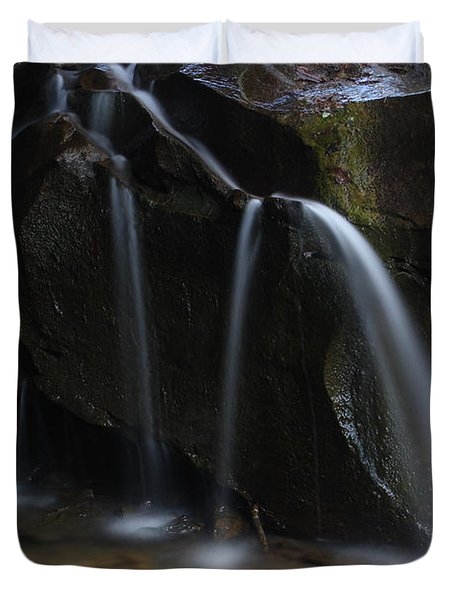 Duvet Cover featuring the photograph Waterfall On Emory Gap Branch by Daniel Reed