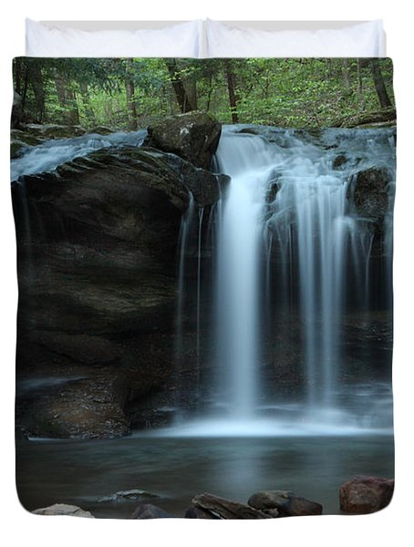 Duvet Cover featuring the photograph Waterfall On Flat Fork by Daniel Reed