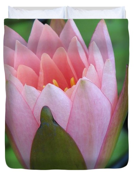 Waterlily Flower Bud Duvet Cover