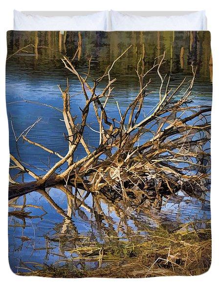 Waterlogged Tree Duvet Cover by Douglas Barnard