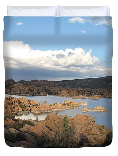 Watson Lake 2 Duvet Cover by Diane Greco-Lesser