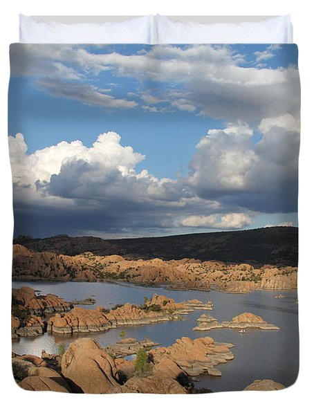 Watson Lake 3  Duvet Cover by Diane Greco-Lesser