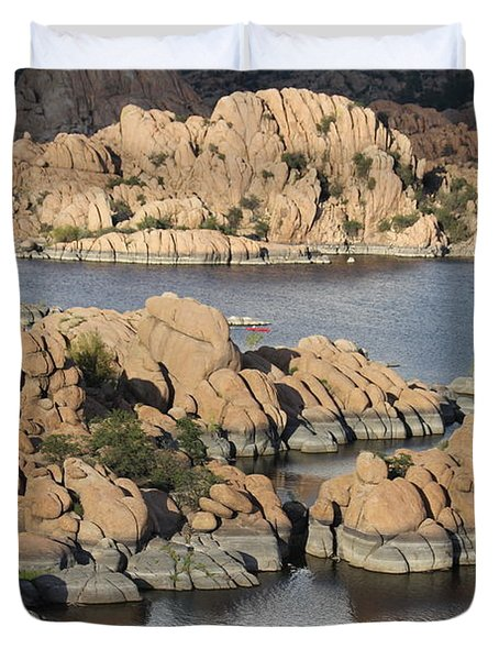 Watson Lake 4  Duvet Cover by Diane Greco-Lesser