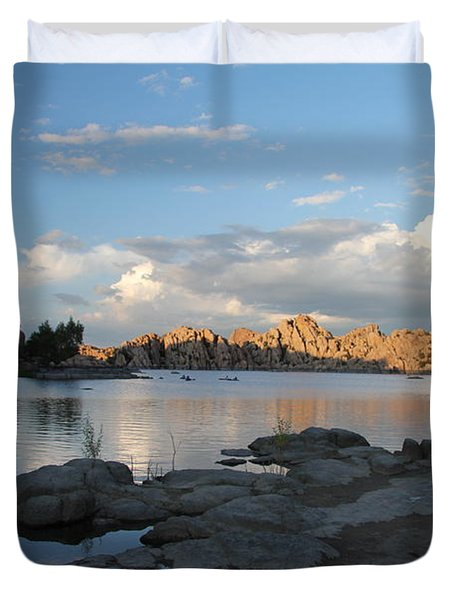 Watson Lake 5  Duvet Cover by Diane Greco-Lesser