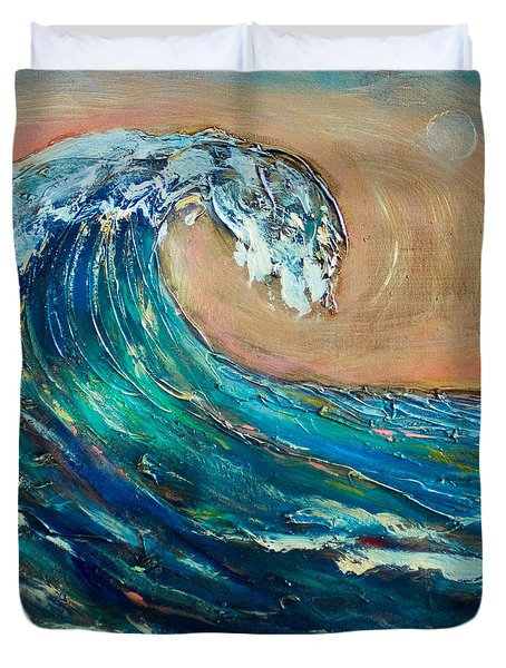 Wave To The South Duvet Cover