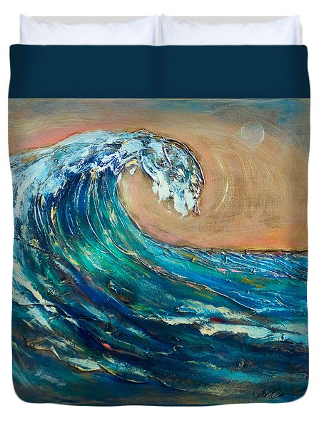 Wave To The South Duvet Cover by Linda Olsen