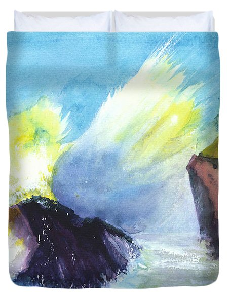 Waves 1 Duvet Cover by Anil Nene