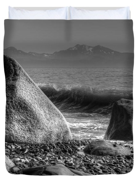 Duvet Cover featuring the photograph Waves At Diamond Beach by Michele Cornelius