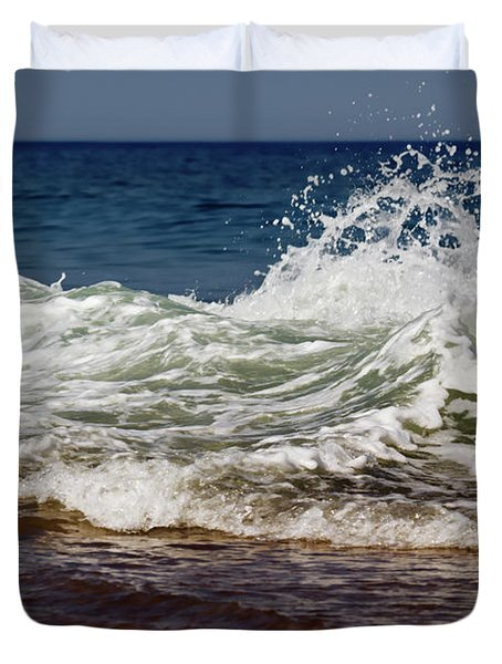 Waves In Motion Duvet Cover