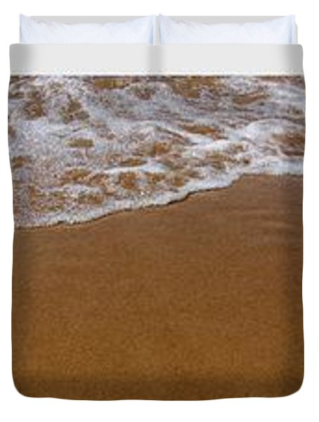 Waves Triptych Duvet Cover by Michelle Calkins