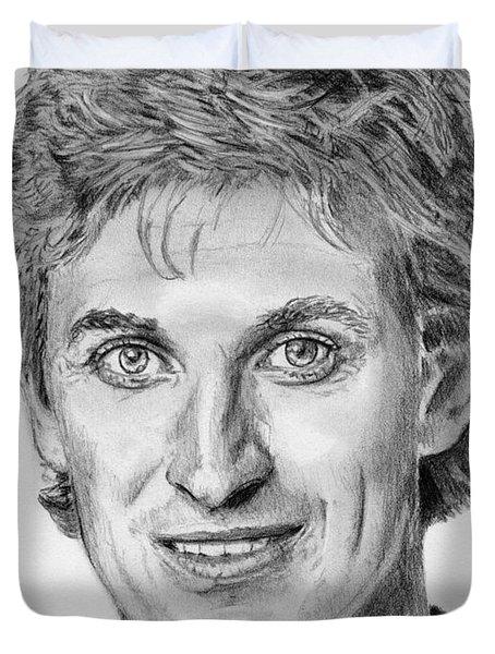 Wayne Gretzky In 1992 Duvet Cover by J McCombie