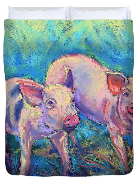 We Won't Be Bacon Duvet Cover by Li Newton