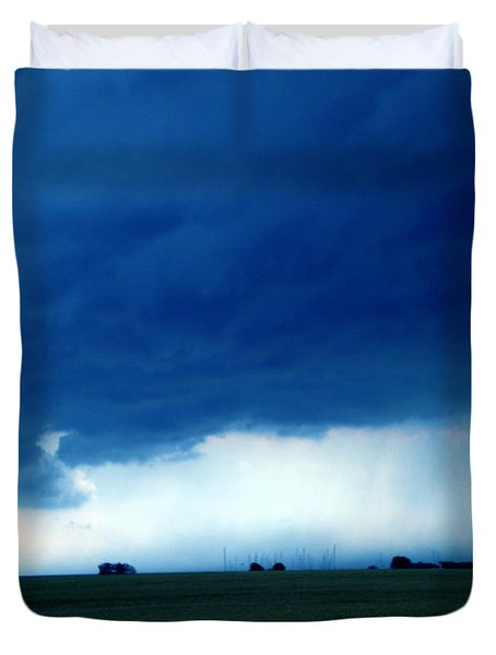 Duvet Cover featuring the photograph Weather Changes by Colette V Hera  Guggenheim