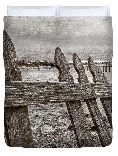 Weathered Duvet Cover by Debra and Dave Vanderlaan