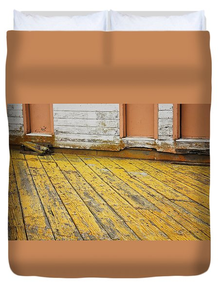 Weathered Monterey Building Duvet Cover