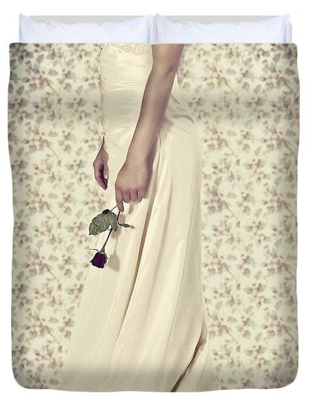 Wedding Dress Duvet Cover by Joana Kruse