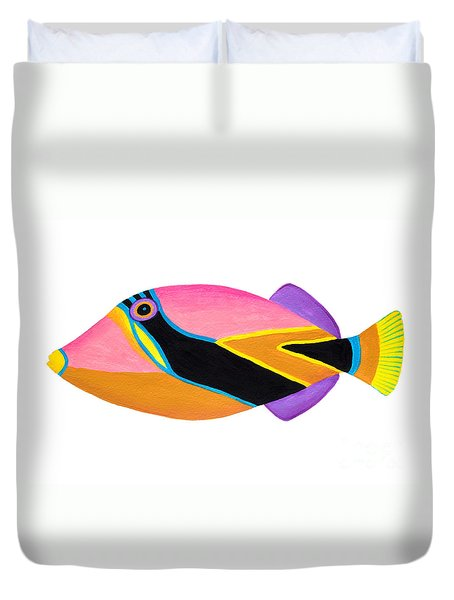 Wedge Tail Triggerfish  Duvet Cover by Opas Chotiphantawanon