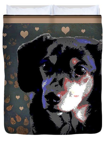 Wee With Love Duvet Cover by One Rude Dawg Orcutt