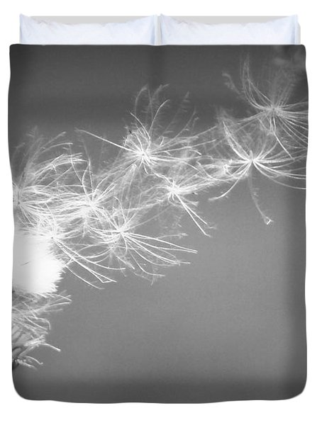 Duvet Cover featuring the photograph Weed In The Wind by Deniece Platt