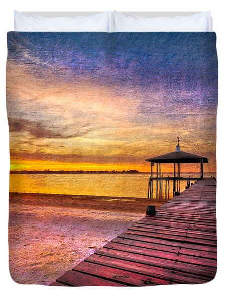 Welcome The Morning Duvet Cover by Debra and Dave Vanderlaan