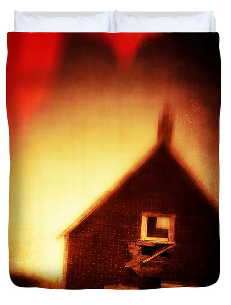 Welcome To Hell House Duvet Cover by Edward Fielding