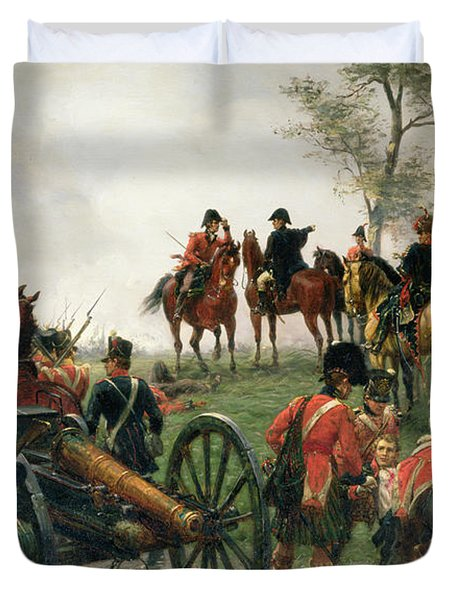 Wellington At Waterloo Painting By Ernest Crofts