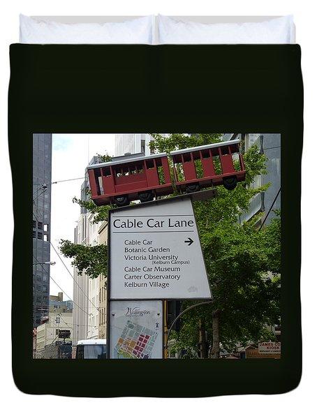 Wellington Cablecar Duvet Cover by Carla Parris