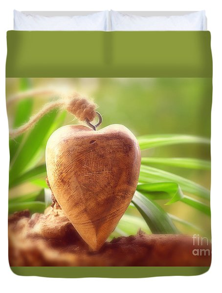 Wellnes Heart Duvet Cover by Tanja Riedel