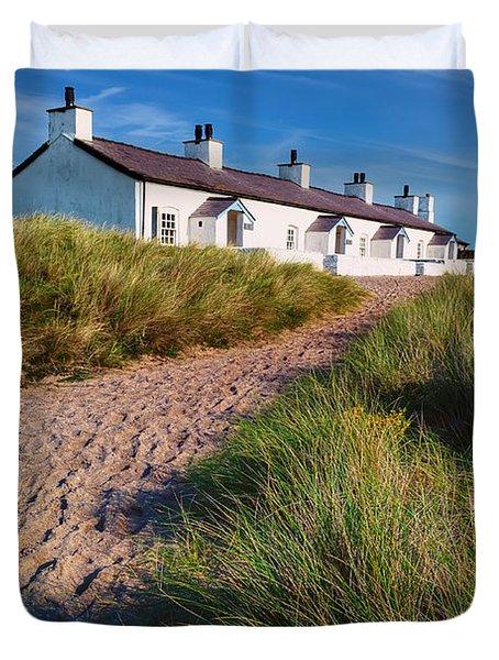 Welsh Cottages Duvet Cover by Adrian Evans