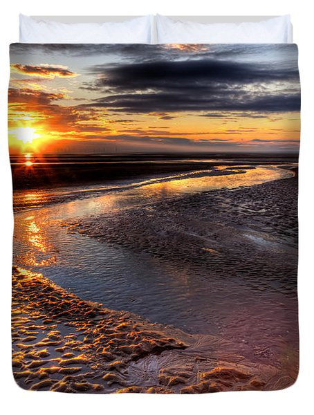 Welsh Sunset Duvet Cover by Adrian Evans