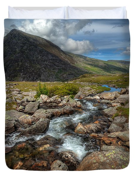 Welsh Valley Duvet Cover by Adrian Evans