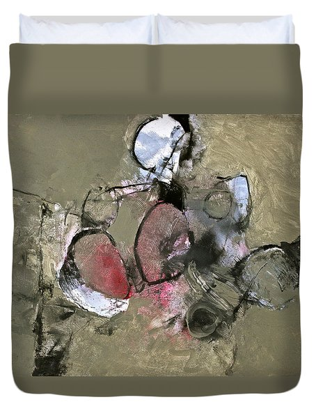 Duvet Cover featuring the painting Welterweight  by Cliff Spohn