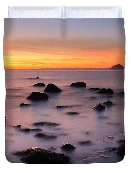 West Coast Sunset Duvet Cover