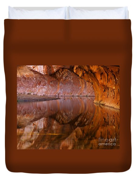 West Fork Illusion Duvet Cover by Mike  Dawson