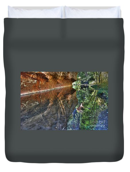 Duvet Cover featuring the photograph West Fork Reflection by Tam Ryan