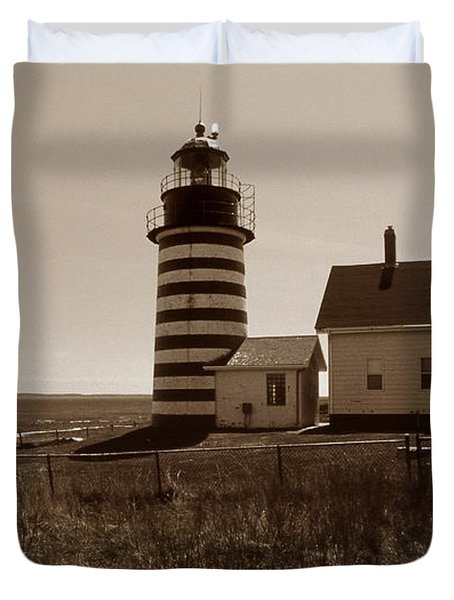 West Quoddy Lighthouse Duvet Cover by Skip Willits
