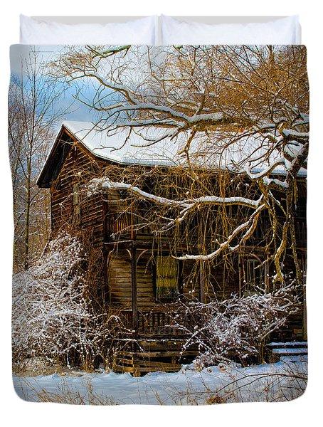 West Virginia Winter Duvet Cover