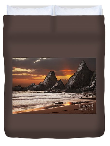 Westcombe Bay Duvet Cover by Richard Garvey-Williams