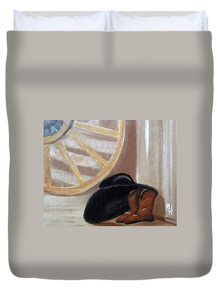 Western Art Work For Luke Duvet Cover