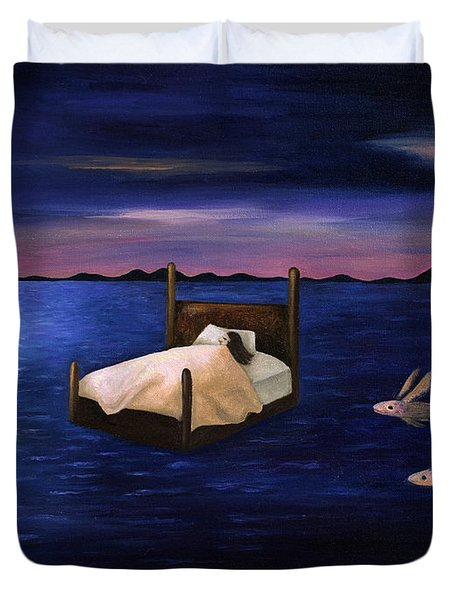Wet Dreams Duvet Cover by Leah Saulnier The Painting Maniac