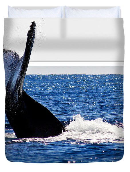 Whale Tail Duvet Cover by Jean Noren