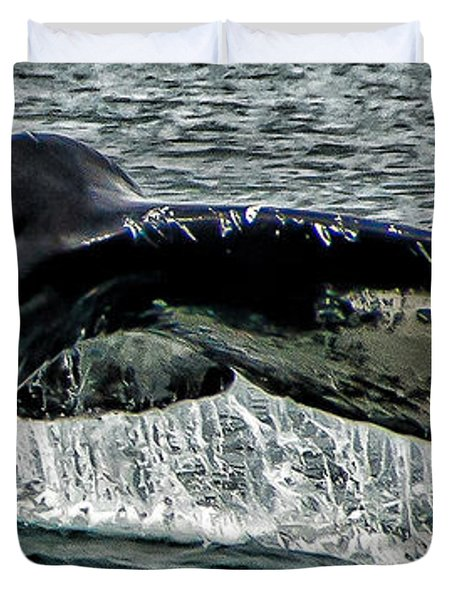 Whale Tail Duvet Cover by Jon Berghoff