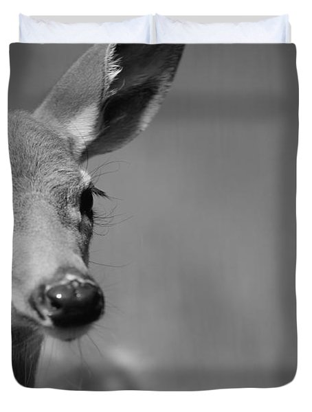 What A Face Duvet Cover by Karol Livote