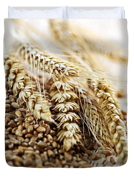 Wheat Ears And Grain Duvet Cover by Elena Elisseeva