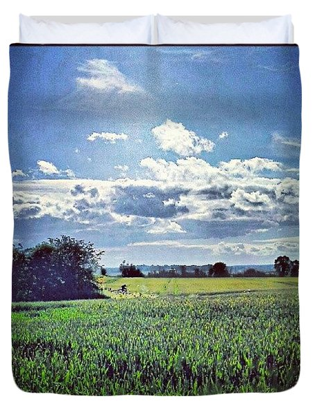 Wheat Fields Duvet Cover