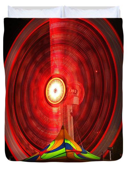 Wheel In The Sky Duvet Cover by Gordon Dean II